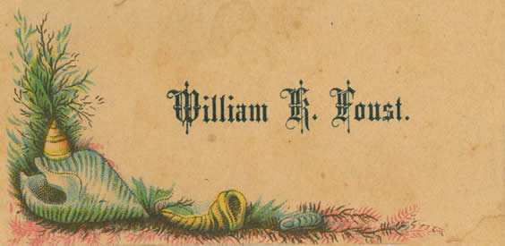 William Foust calling card
